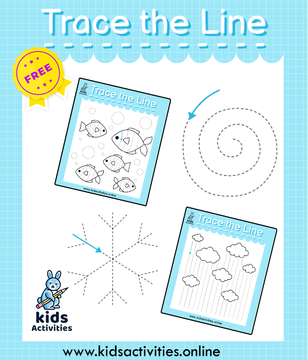 trace the lines worksheet for preschool