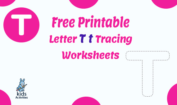 Printable Free letter T tracing worksheets