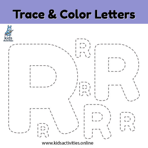 trace color letter r