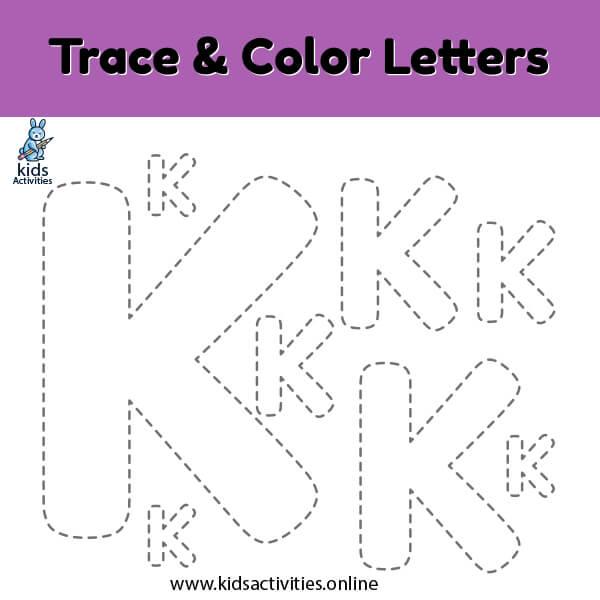 Trace line letter k