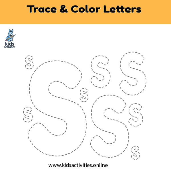 trace color letter s