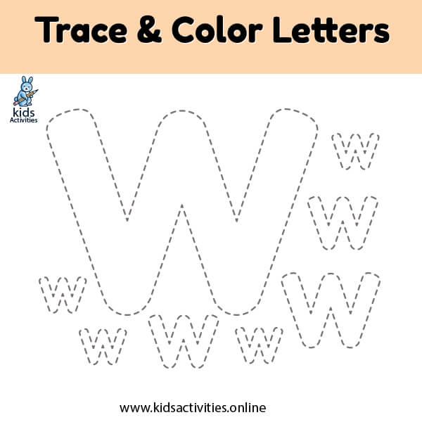 Free letter v tracing worksheets
