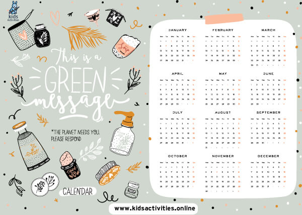 Cute calendar 2021 template free printable