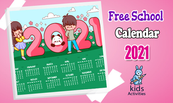 Free School Calendar 2021 Templates