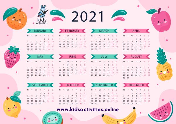 cute calendar template printable