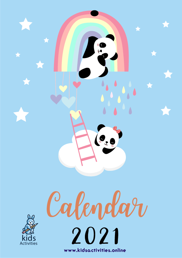 Free Cute Colorful Calendar 2021 Printable