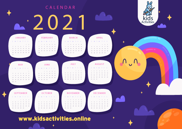 Printable 2020 calendar by month PDf