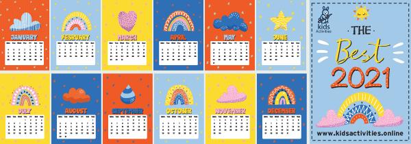 new year calendar 2021