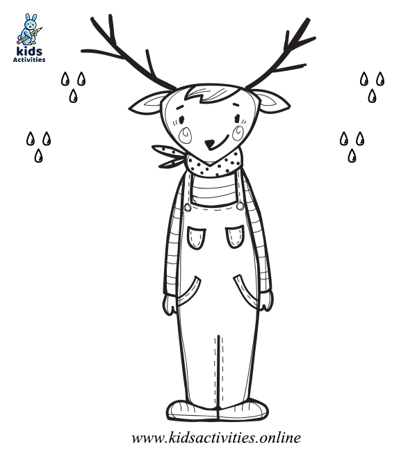 Free Winter Animal Coloring Pages
