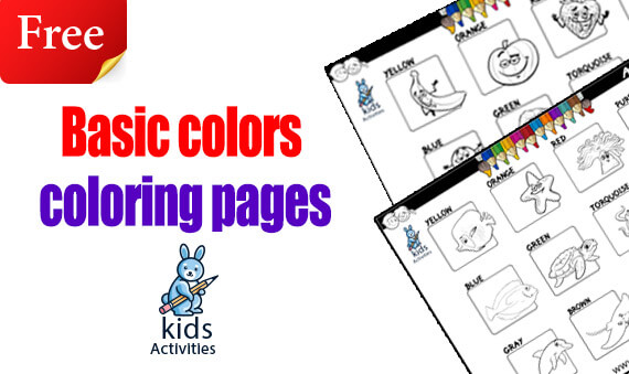 basic colors coloring pages
