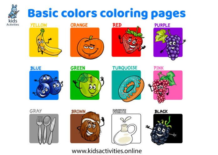 colors worksheets coloring - colors worksheets for kindergarten