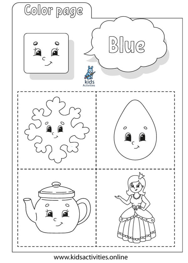 coloring basic colors worksheets