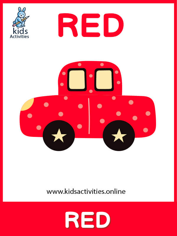 Red color flashcard - Free Basic Colors Flashcards
