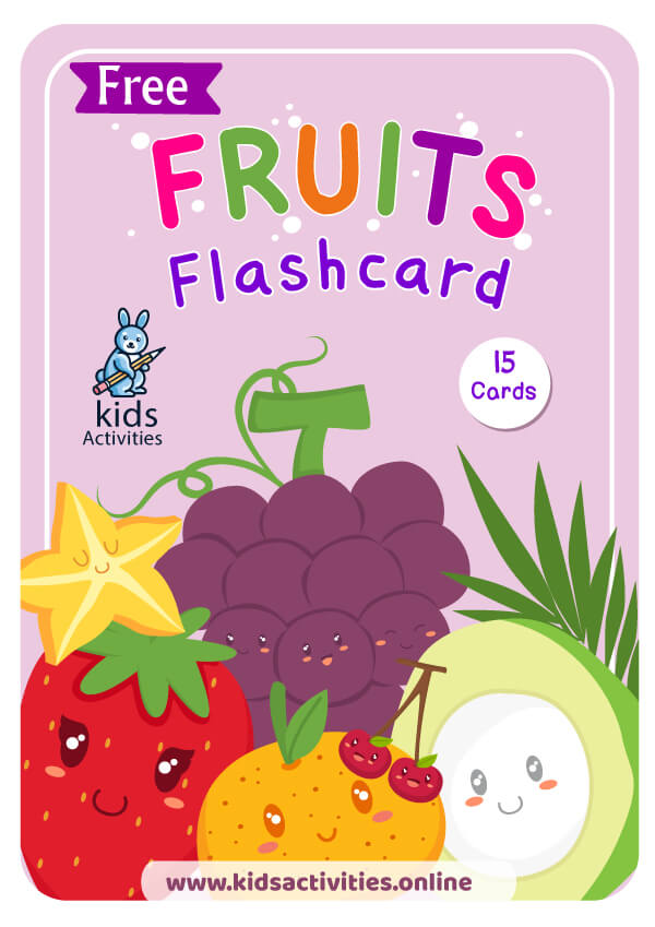 Free fruits flashcards cover