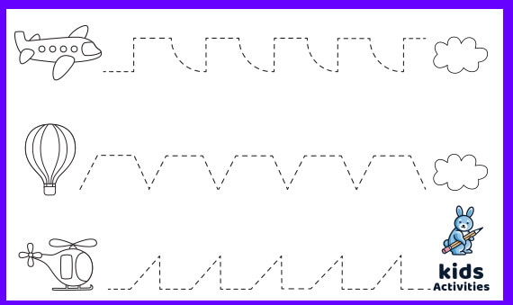 Free Printable Tracing Lines Worksheets PDF