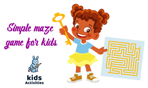 Simple maze game for kids (Free PDF)