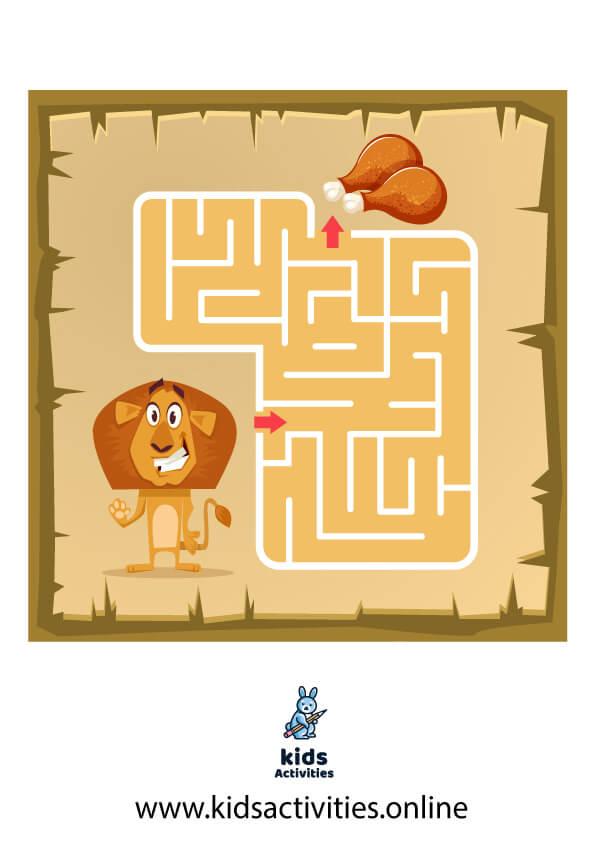 Free easy mazes for kids printable