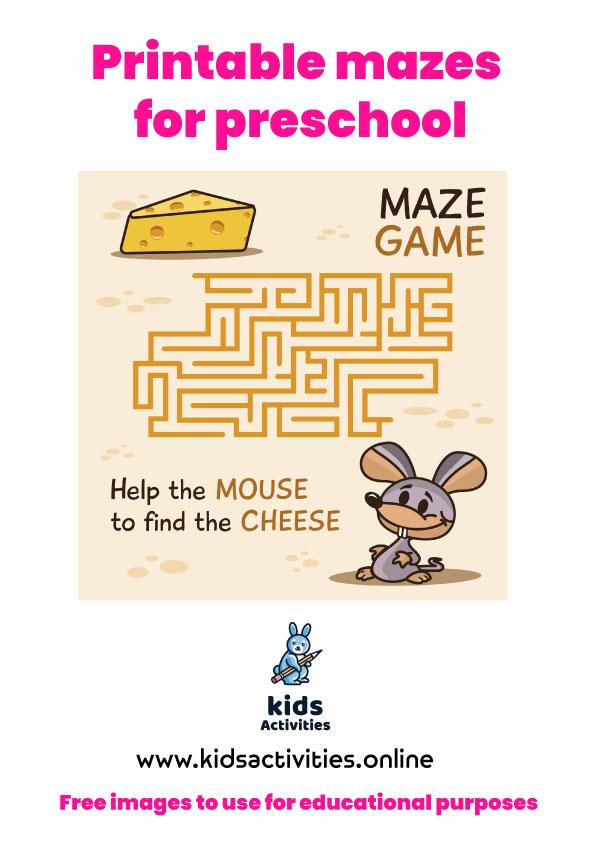 Printable mazes for preschool PDF