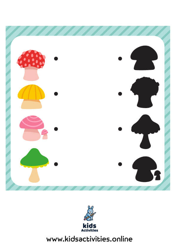 Printable Matching activity for kids