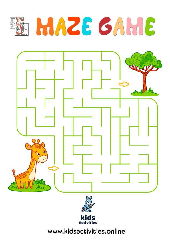 Free!-Printable puzzle mazes for kindergarten PDF