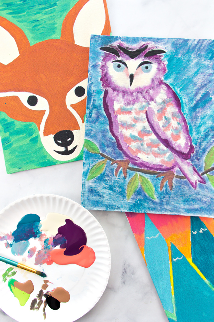 Stencil Painting Ideas For Kids Using Canvas Kids Activities Blog