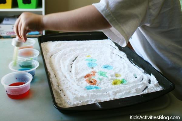 Make Art With Baking Soda And Vinegar!