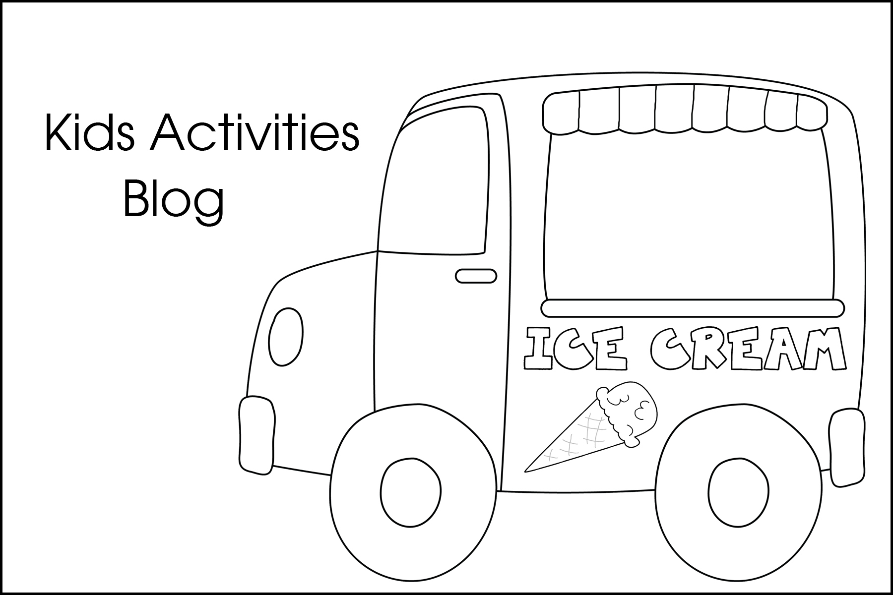 free coloring pages of bowl of ice cream