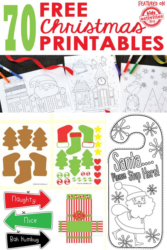 60 Free Christmas Printables