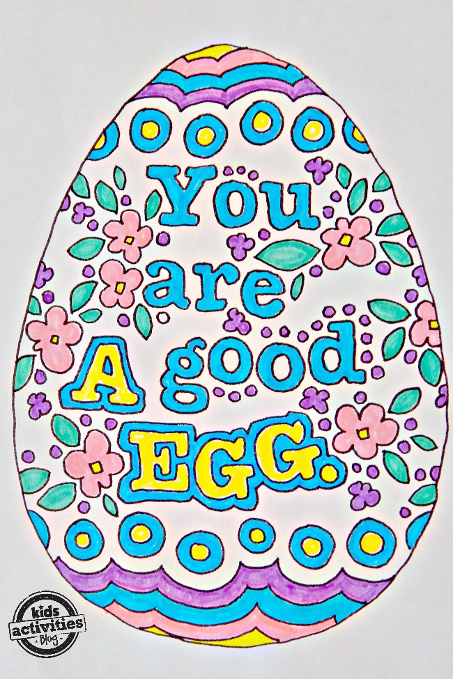Free Kids Easter Egg Doodle Coloring Pages