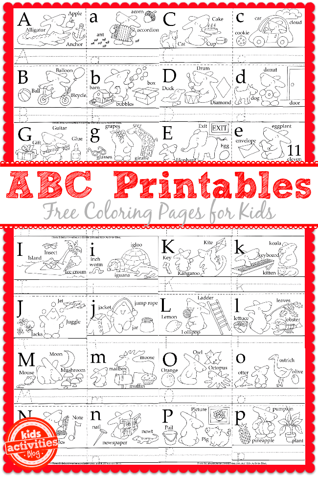 Pages Printable Lower Toddlers Alphabet Case Upper Pictures Coloring And