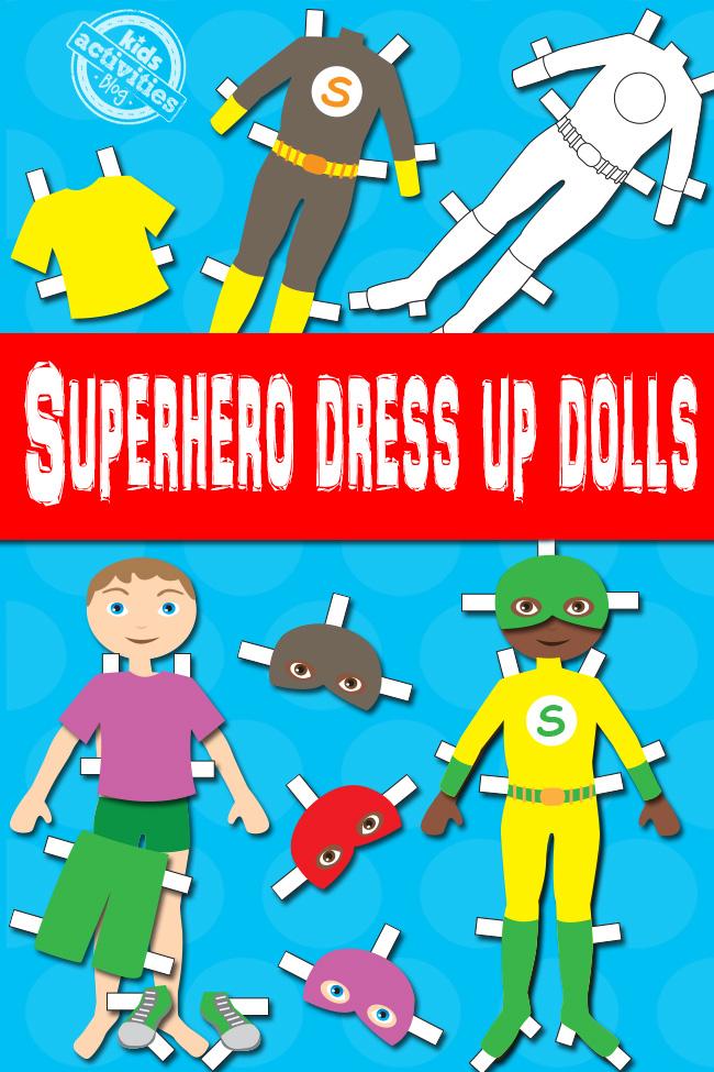 Superhero Boy Paper Dolls