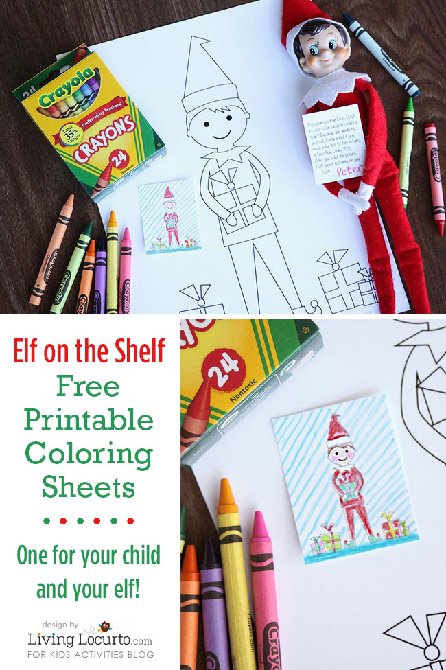 elf on the shelf sized coloring sheets and kid sized coloring