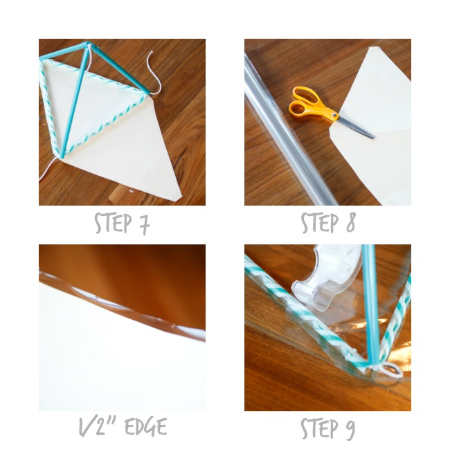 Pyramid Kite - Steps 7 to 9 - Kids Activities Blog