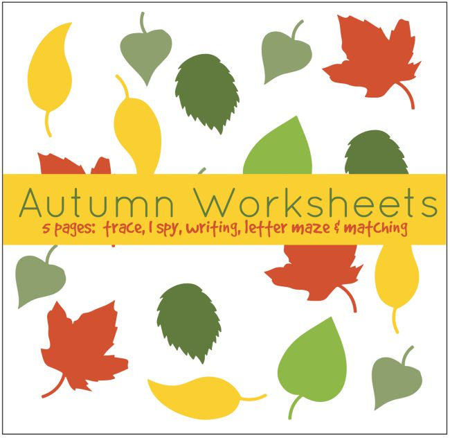 Autumn Worksheets - Member Library