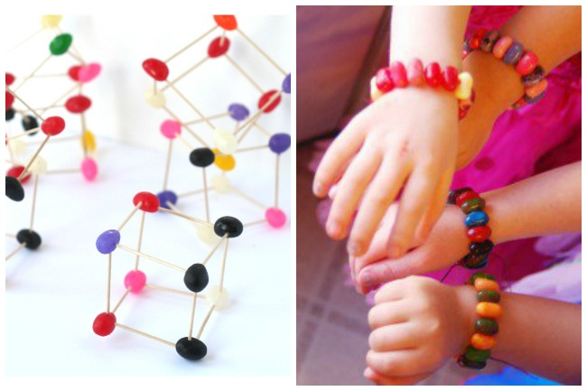 Letter J Activities Jelly Beans- jelly bean Stem activity and jelly bean jewelry