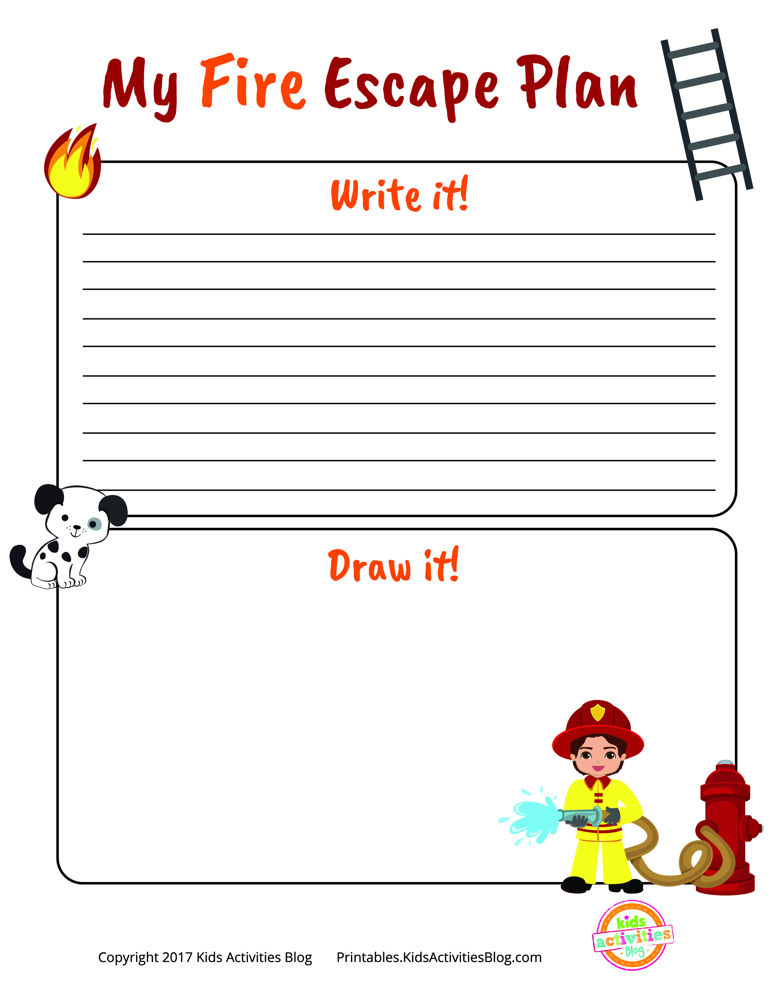 Fire Escape Plan Printable For National Fire Prevention Week