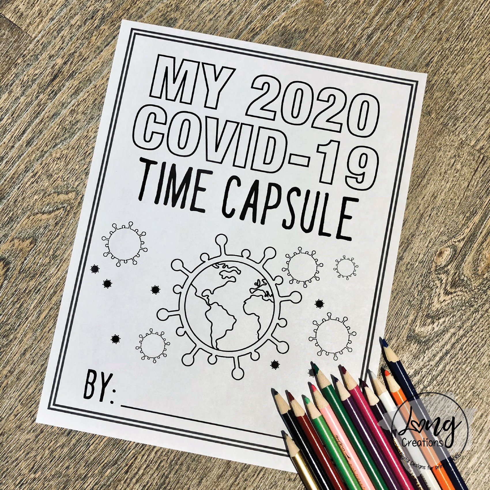 Quarantine Time Capsule Idea For Kids Printable Worksheets