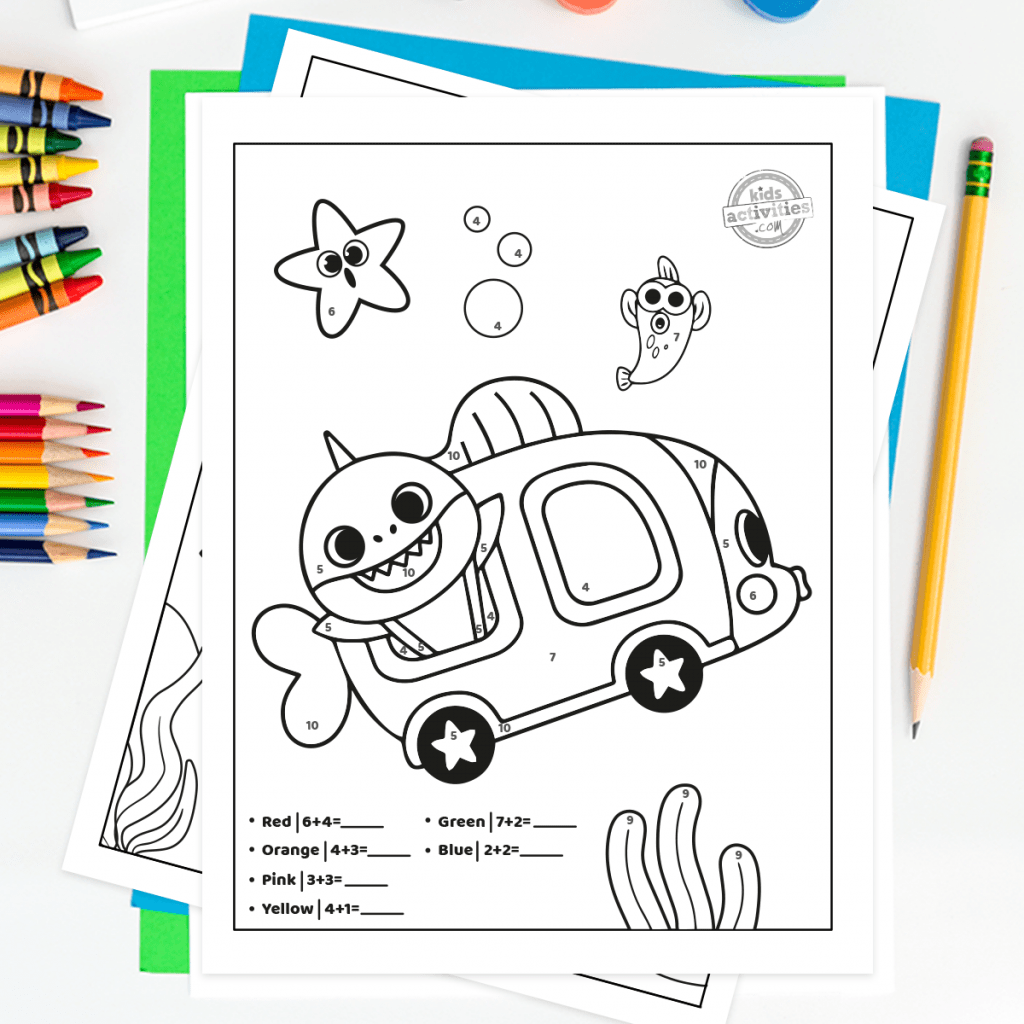 Here S How To Download The Best Baby Shark Addition Worksheets
