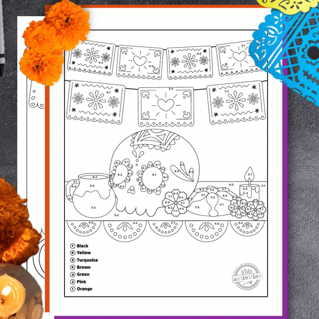 Get Our Easy Subtraction Worksheets Day Of The Dead Themed