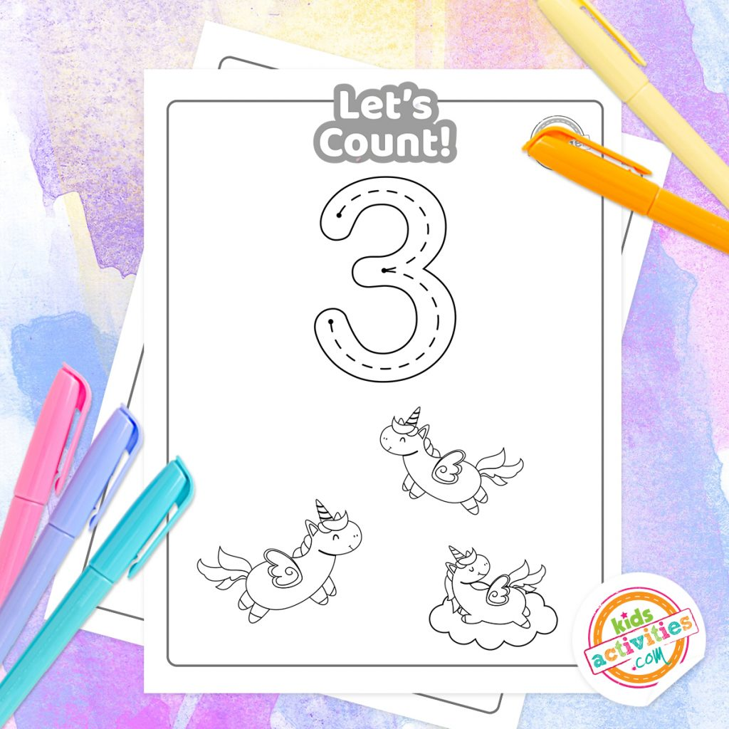Let S Count Free Printable Unicorn Counting Worksheets
