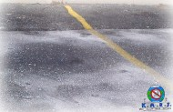 Salt dusting a parking lot
