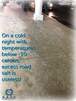 Road Salt only works in temperatures above -10