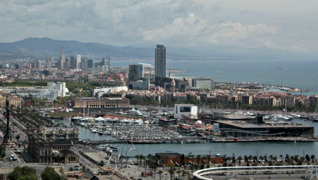 Barcelona widok na Aquarium
