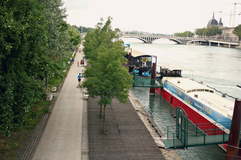 Lyon - spacery nad rzeka