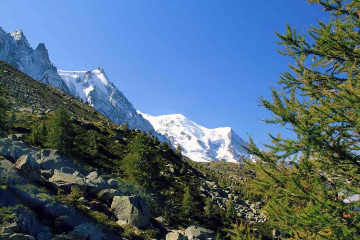 Narty pod Mont Blanc