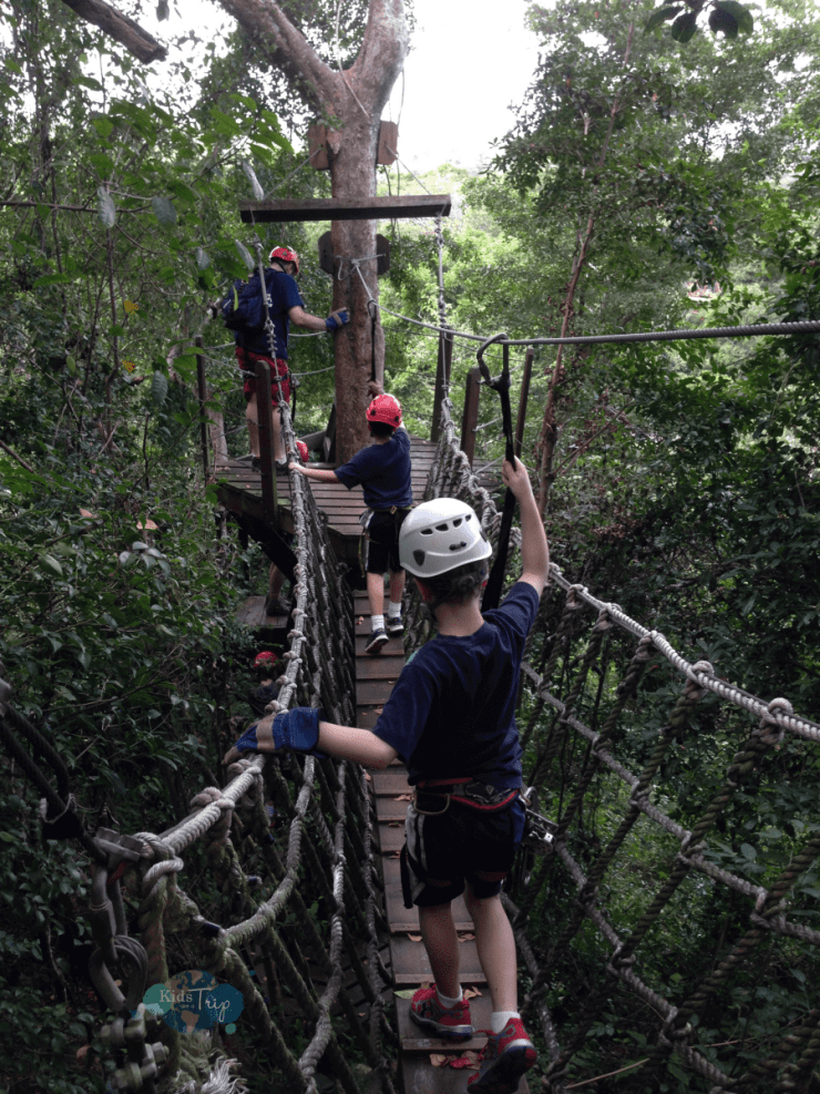 Ziplining Puerto Rico-Kids Are A Trip