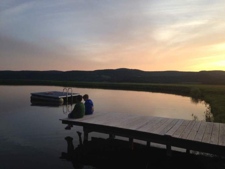 Sunset View at the Pond-Kids Are A Trip