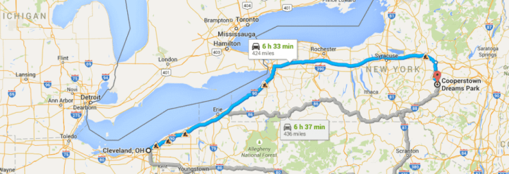 Driving Cleveland to Cooperstown-Kids Are A Trip