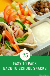 25 Easy to Pack Back to School Snacks-Kids Are A Trip