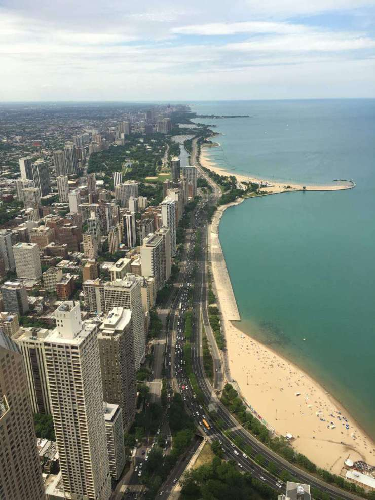 Loews Chicago View from 360 Chicago Tilt-Kids Are A Trip